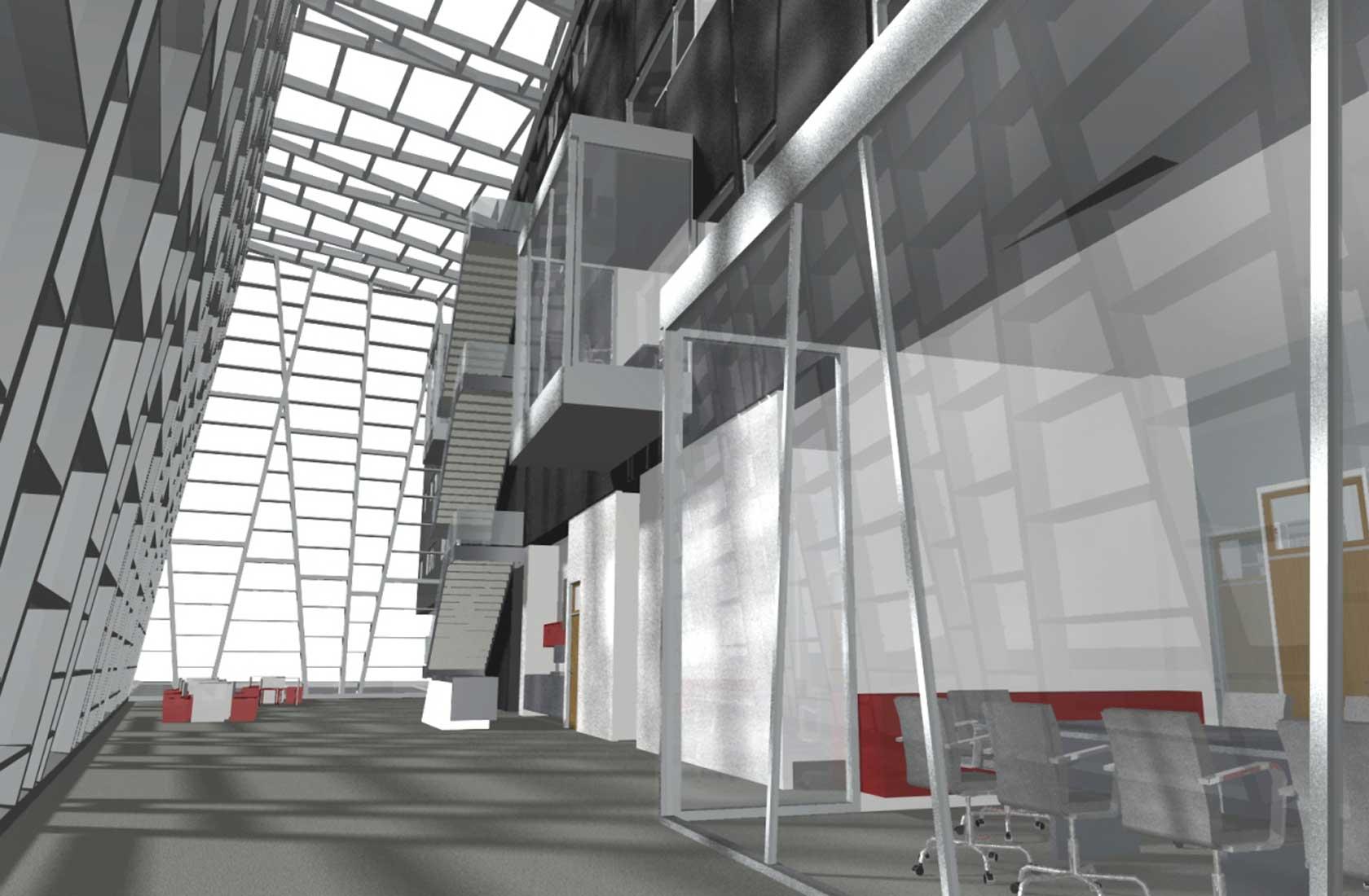 Arhitekturno oblikovanje interierja v javnih stavbah.